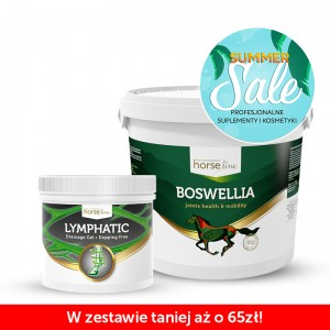 Suplement na stawy HORSE LINE Boswellia 2000g + Żel regenerujący HORSE LINE Lymphatic 600ml